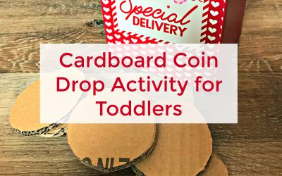 Cardboard Coin Drop Activity for Toddlers