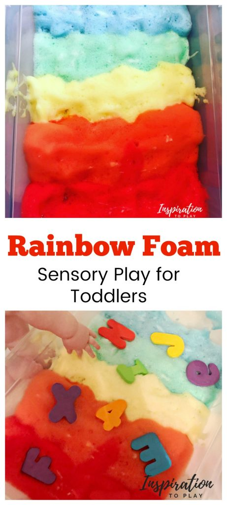 Rainbow Foam Sensory Play for Toddlers