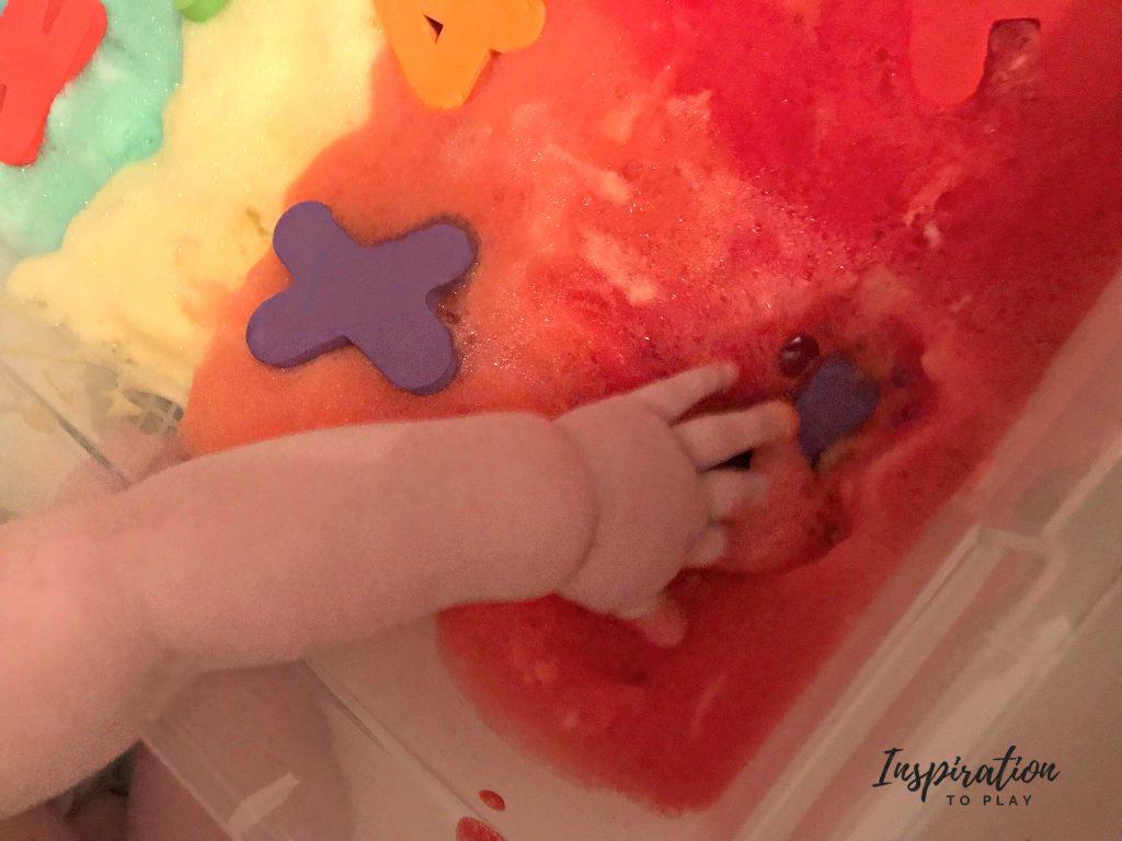Rainbow Sensory Foam Bath Bin