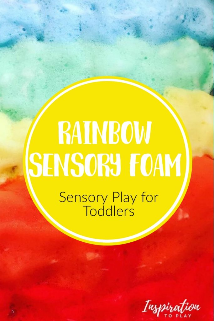 Rainbow Sensory Foam for Toddlers