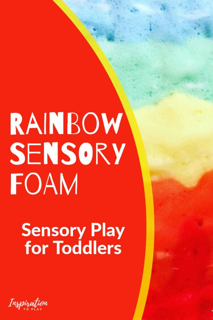 Rainbow Sensory Foam Sensory Play for Toddlers