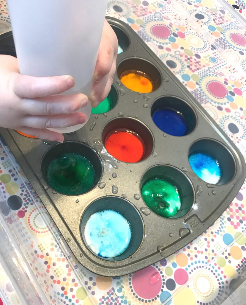 Fuzzy Colors Toddler Play Idea