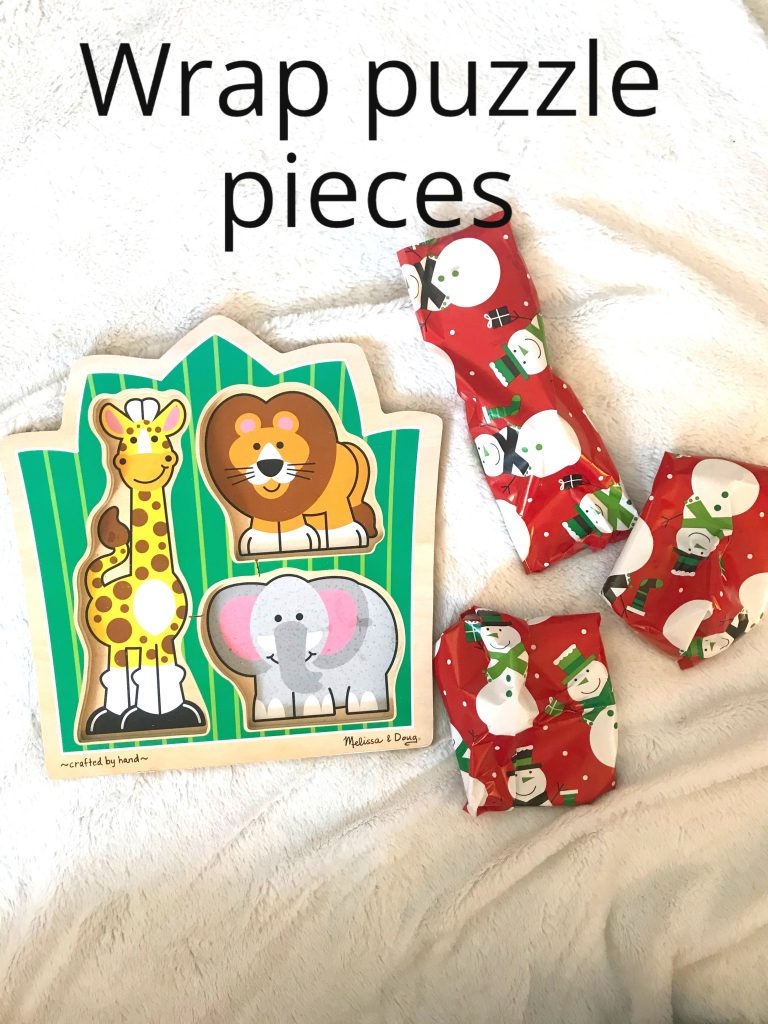 Wrap Puzzle Pieces Toddler Activity
