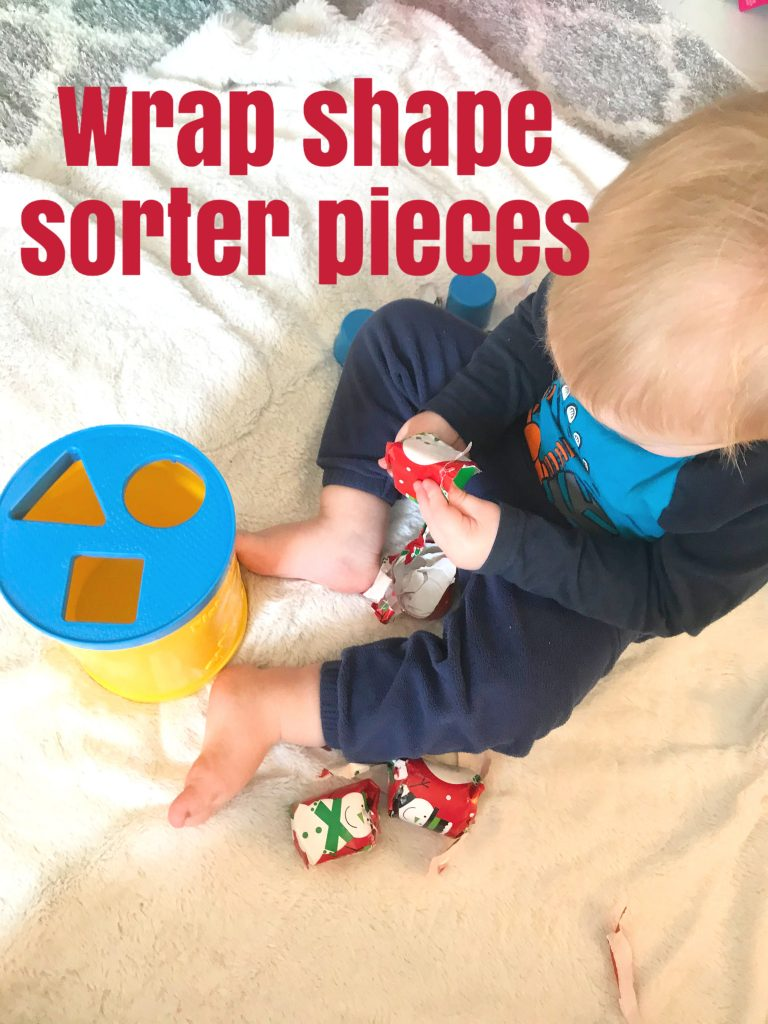 Wrap Shape sorter pieces toddler activity
